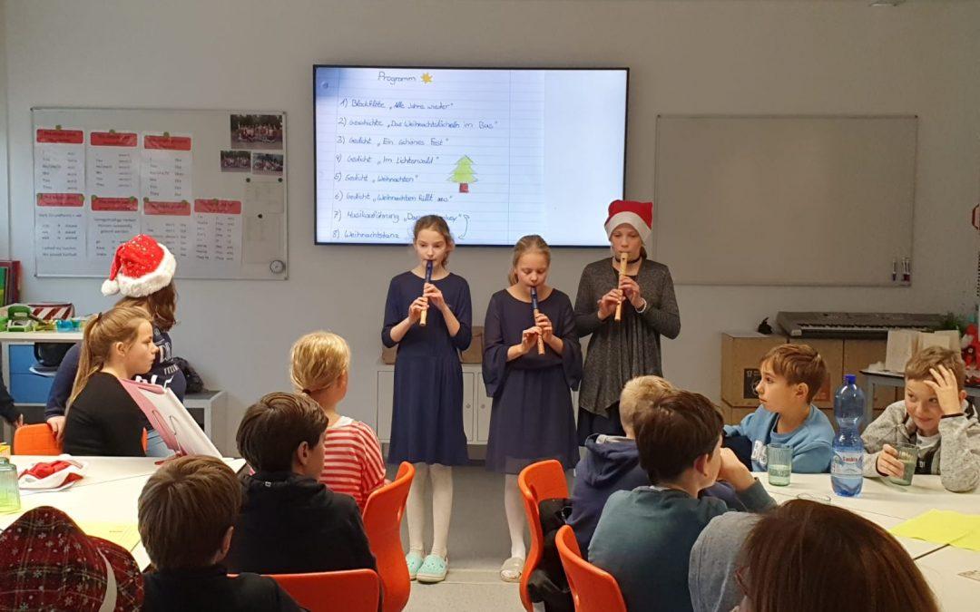 Adventsfeier der Klasse 6a