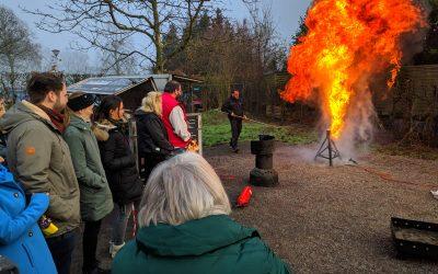 Brandschutzübung mit der Firma H. – J. van Heesch.