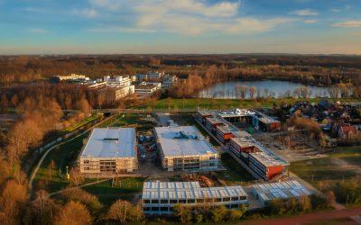 Aktuelle Luftaufnahmen vom Neubau
