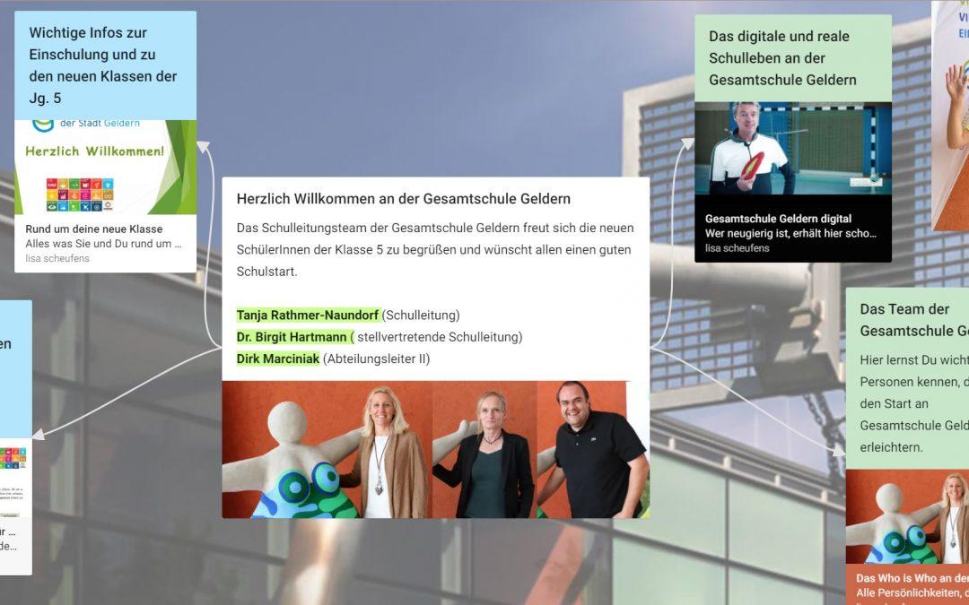 Digitales Kennenlernpadlet für die zukünftigen Fünftklässler